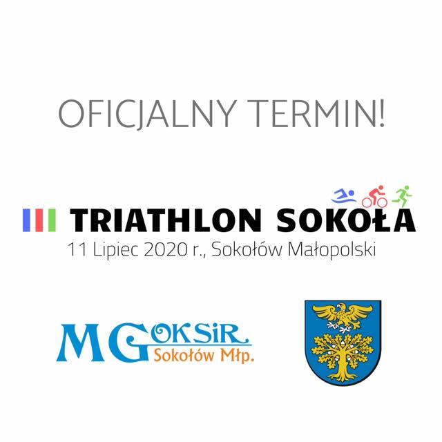 Logo Zawodów III Triathlon Sokoła 2020