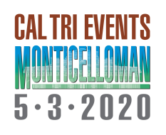 Logo Zawodów 2020 Cal Tri Events Monticelloman - 5.3.20