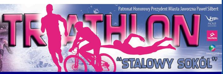 """Logo Zawodów 12. Tauron Triathlon """"Stalowy Sokół"""" Jaworzno 2018"""