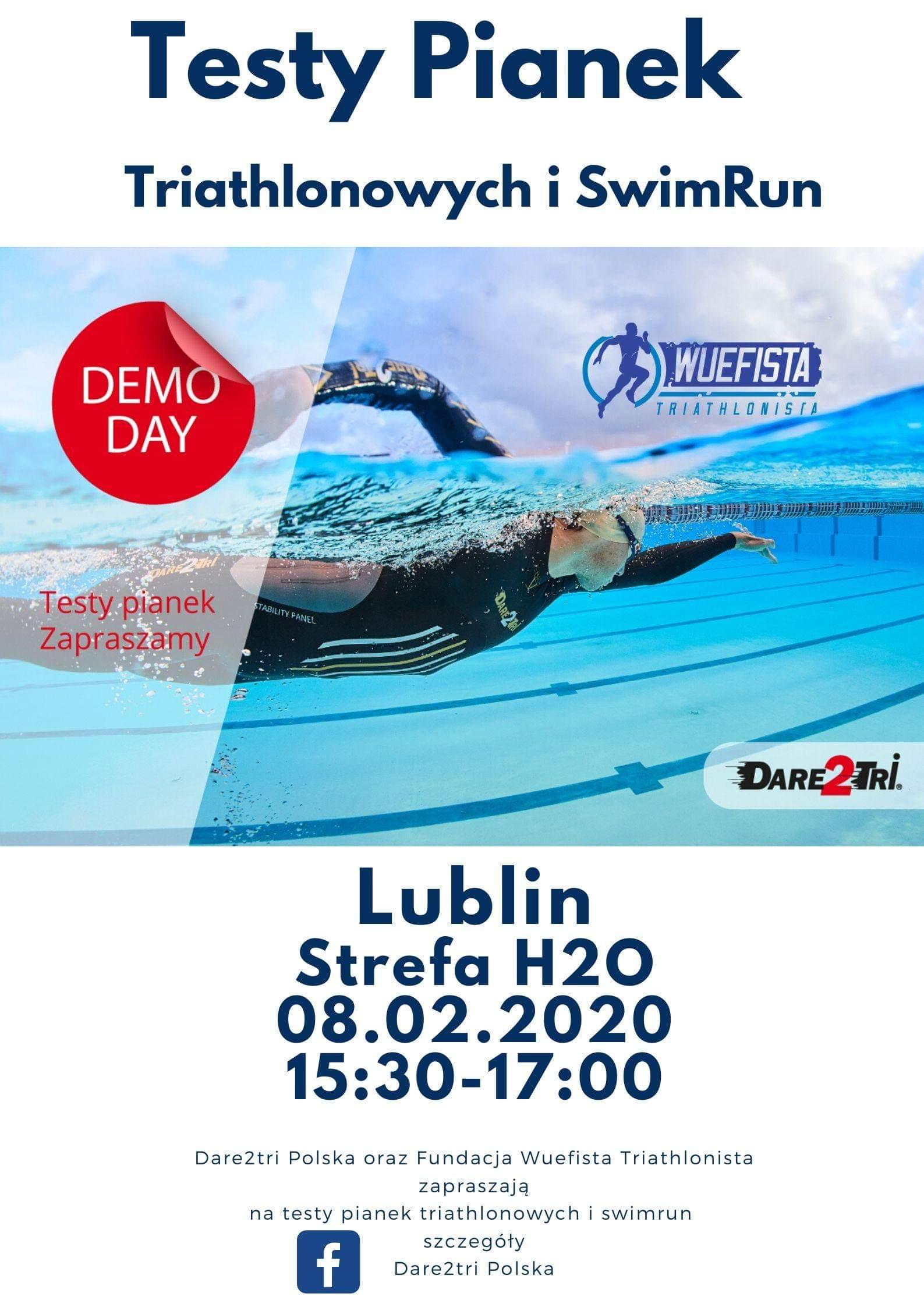 Testy pianek Dare2Tri Triathlon i Swimrun Lublin Luty 2020