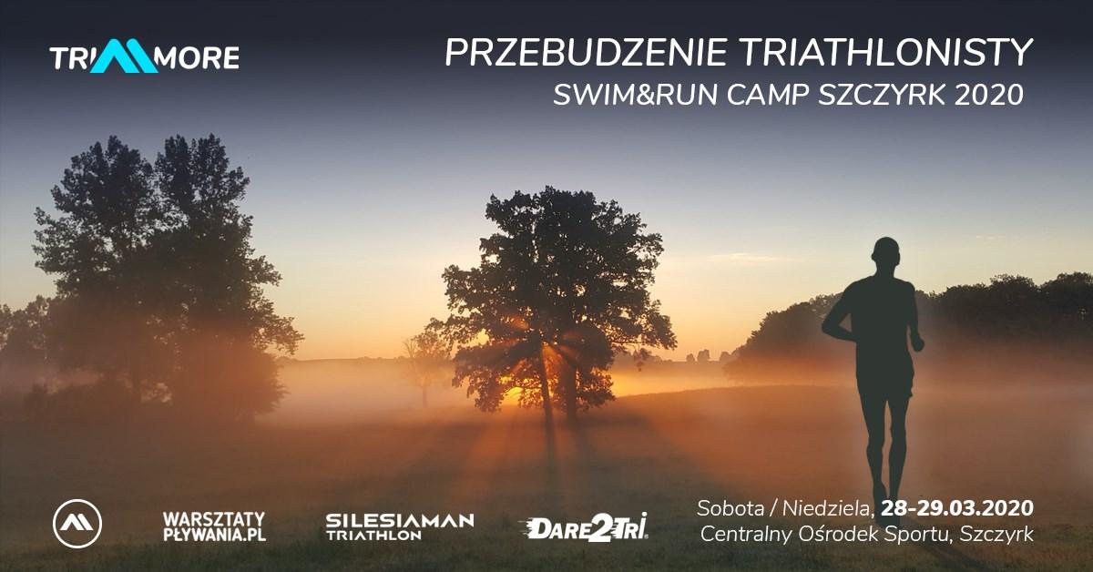 Logo Zawodów Przebudzenie Triathlonisty Swim&Run Camp Szczyrk 2020