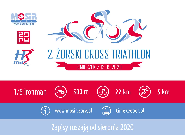 Logo Zawodów II Żorski Cross Triathlon 2020