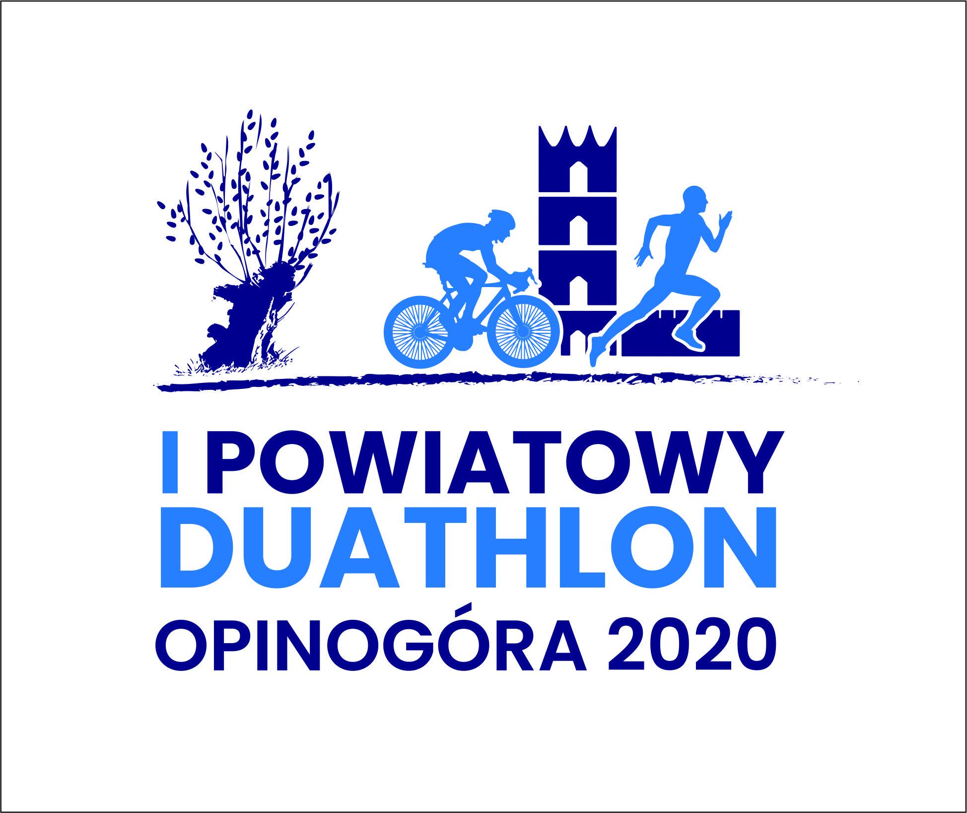 Logo Zawodów I Powiatowy Duathlon & RunKids Opinogóra 2020