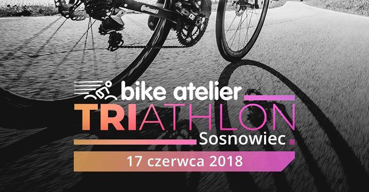 Logo Zawodów Bike Atelier Triathlon Sosnowiec 2018