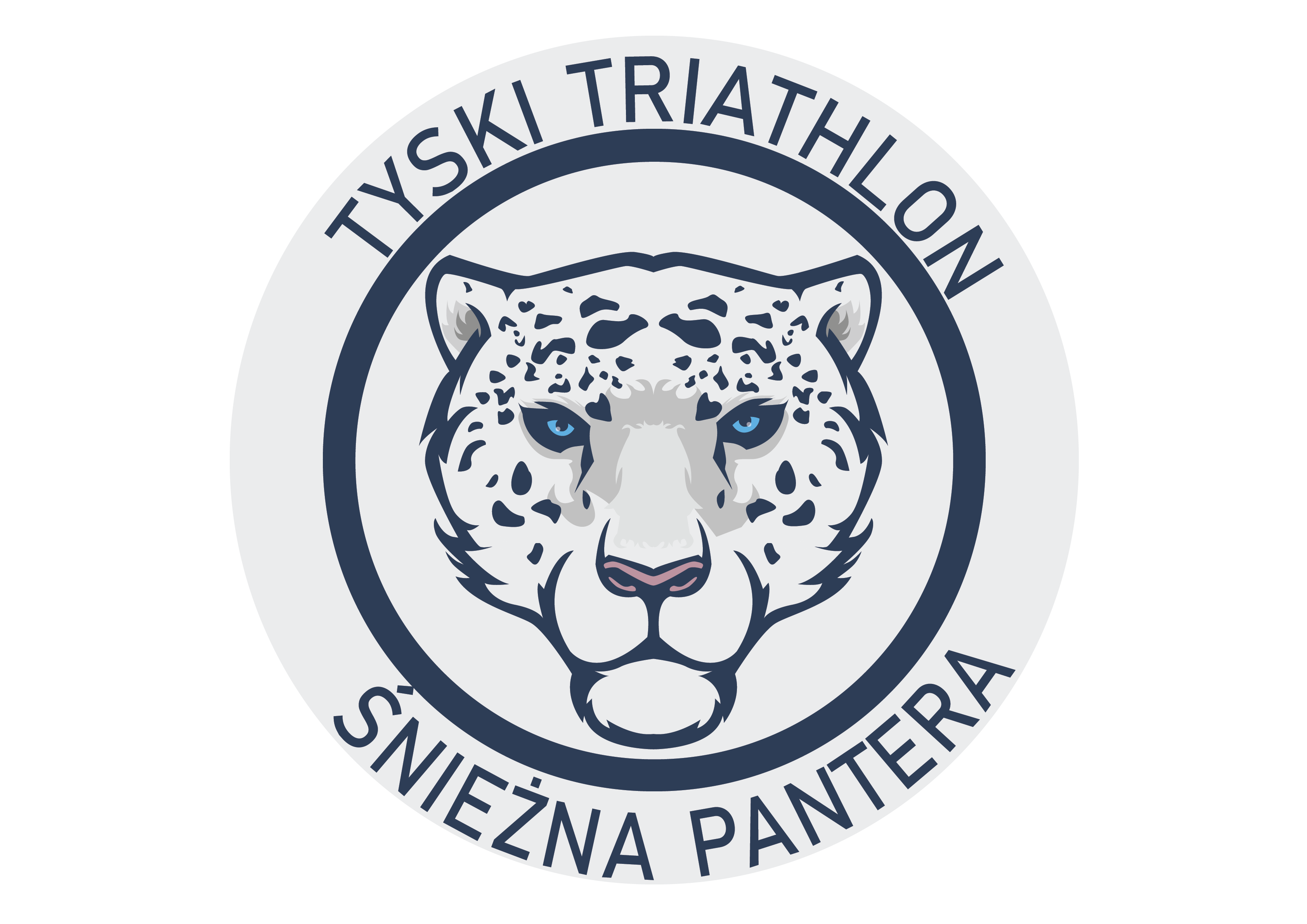 """Logo Zawodów TYSKI TRIATHLON ZIMOWY """"Tyska Śnieżna Pantera II"""" 2021"""