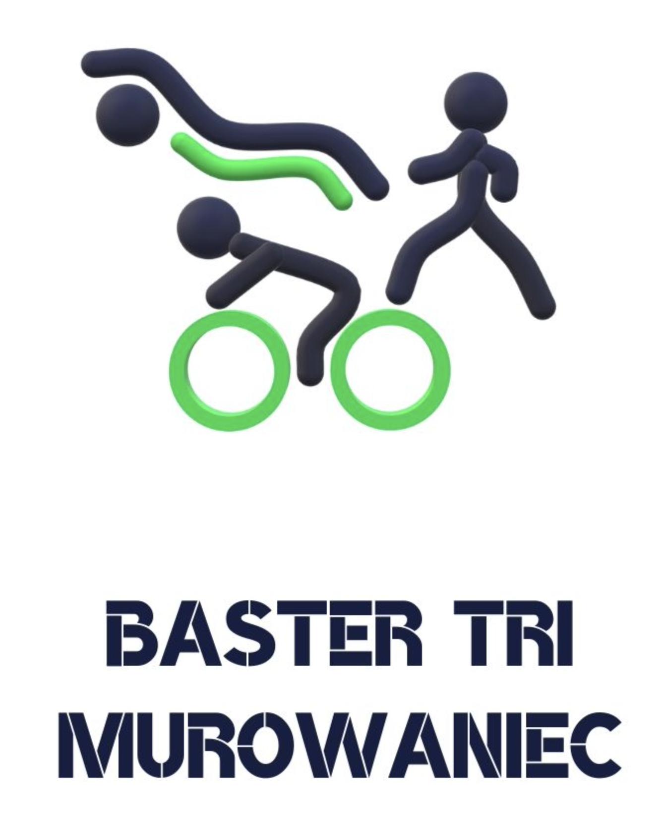Logo Zawodów Baster Tri Murowaniec Triathlon 2021 - 1/8 ironman