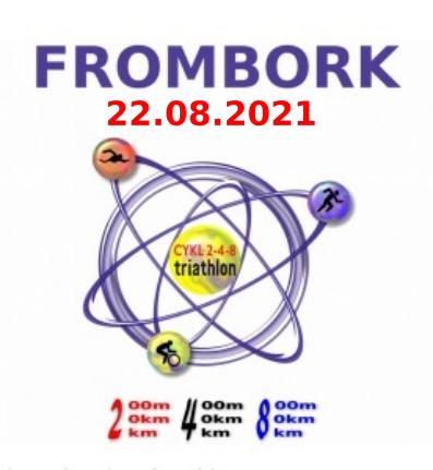 Logo Zawodów 2-4-8 Triathlon Frombork 2021