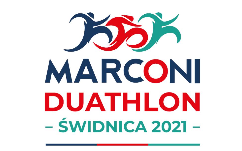 Logo Zawodów Marconi Duathlon Świdnica 2021