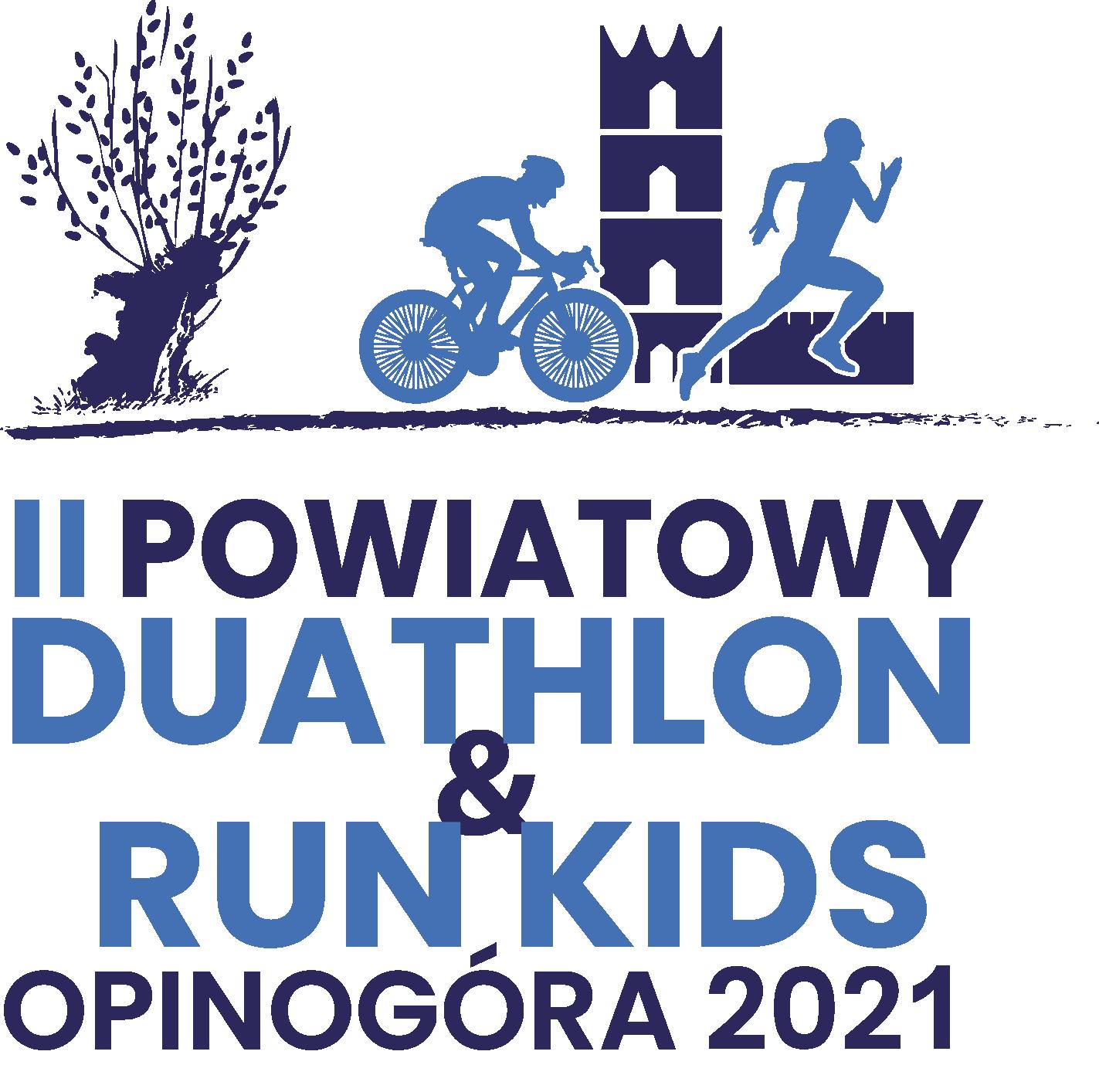 Logo Zawodów II Powiatowy Duathlon & RunKids Opinogóra 2021