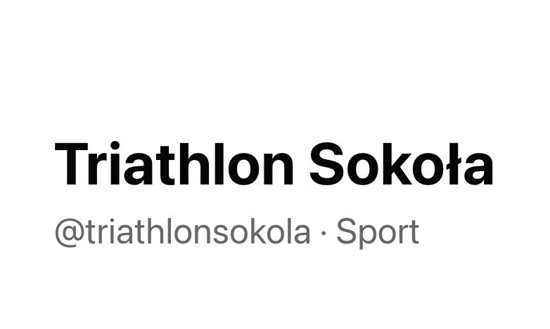 Logo Zawodów Triathlon Sokoła 2021
