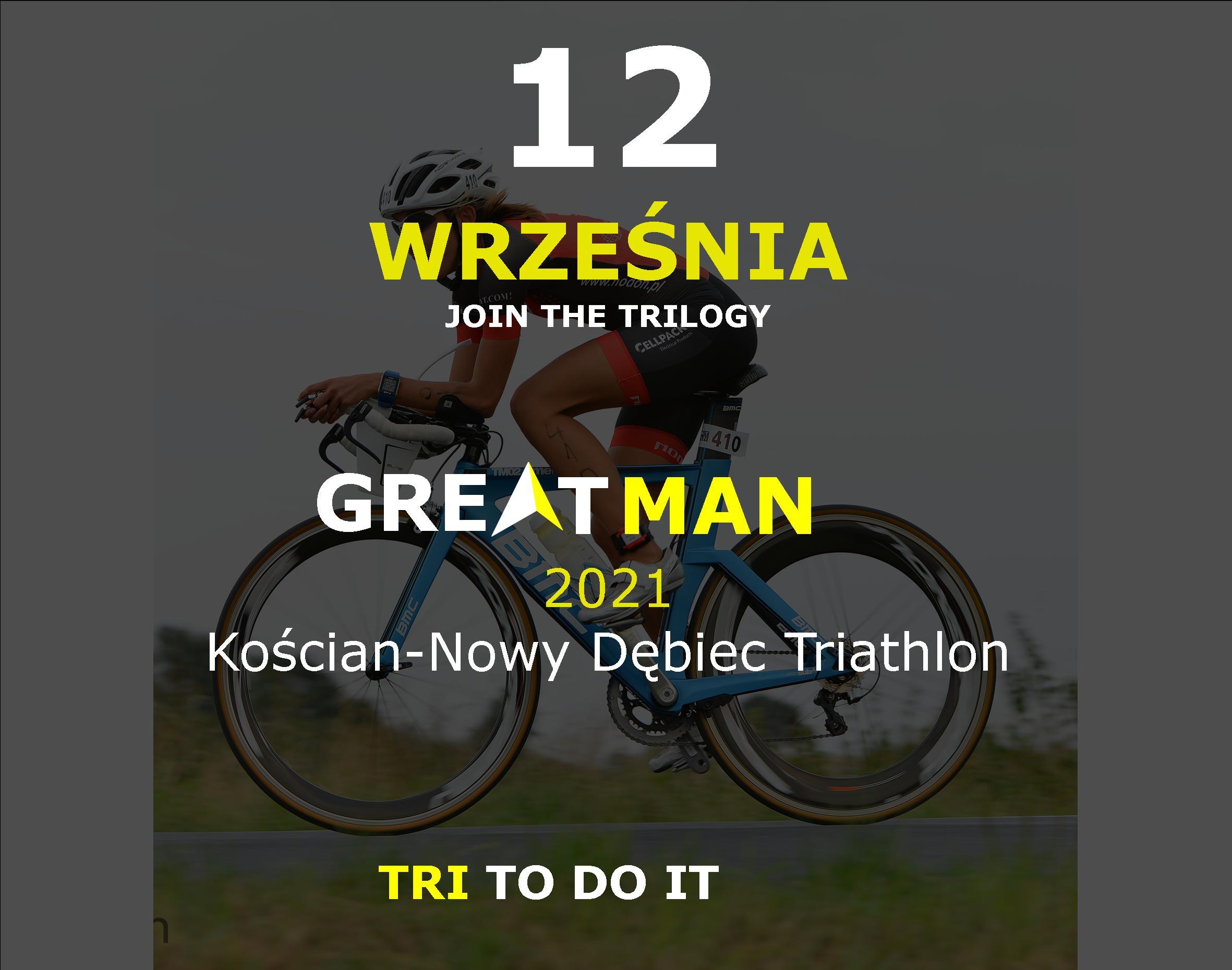 Logo Zawodów Greatman Kościan Triathlon 2021