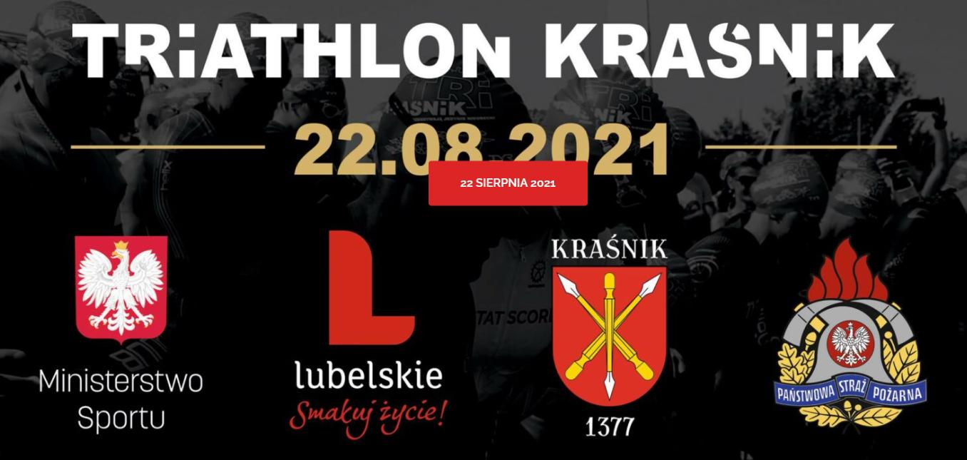 Logo Zawodów VIII Triathlon Kraśnik 2021