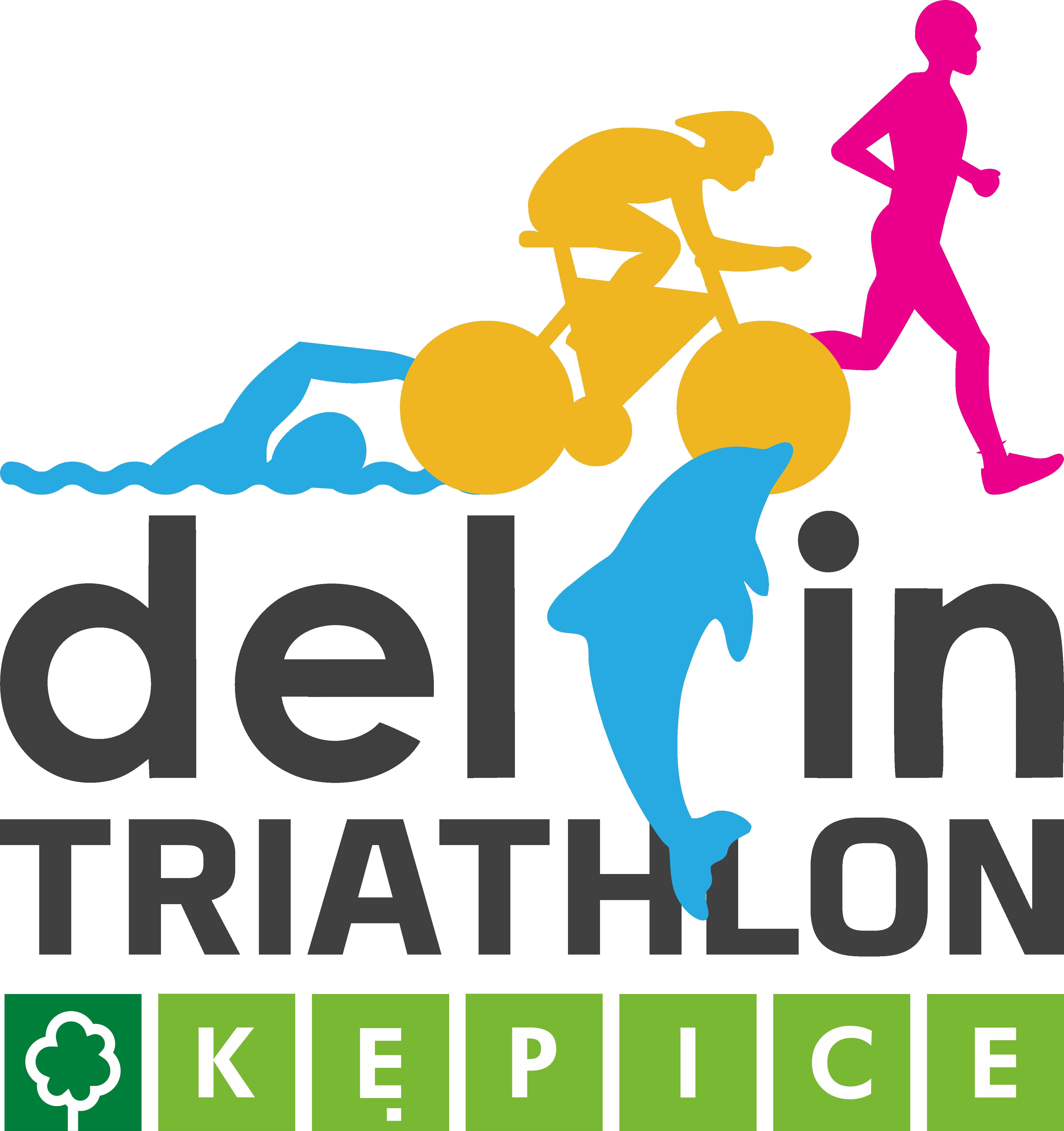Logo Zawodów Delfin Triathlon Kępice 2021