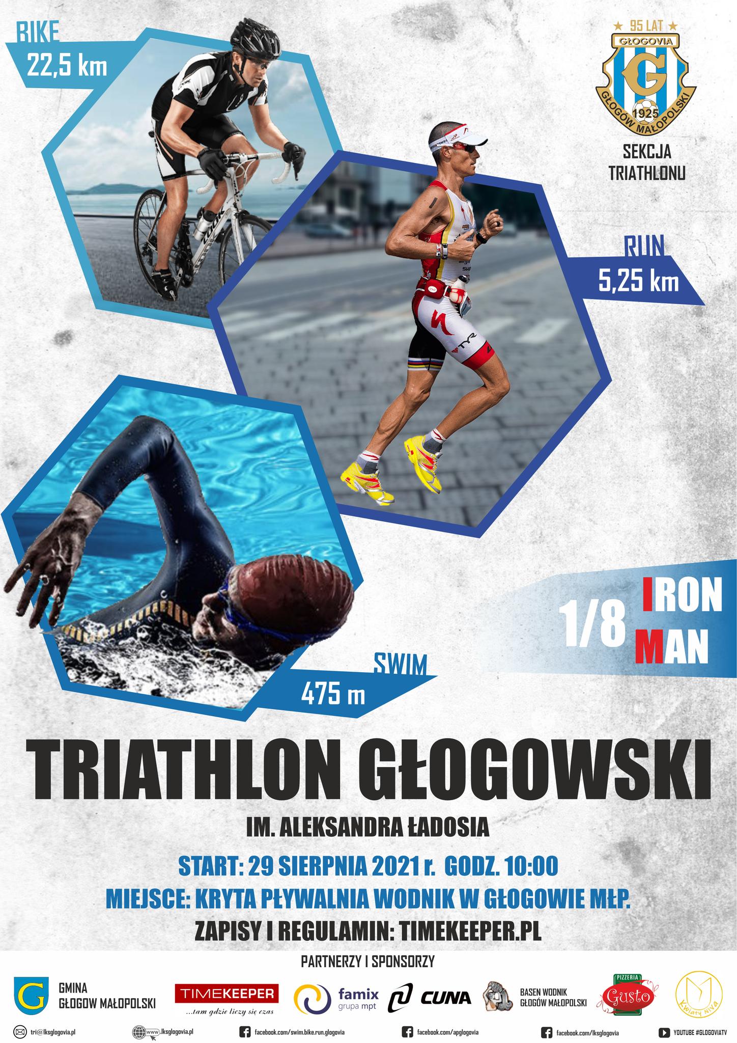 Logo Zawodów Triathlon Głogowski 2021