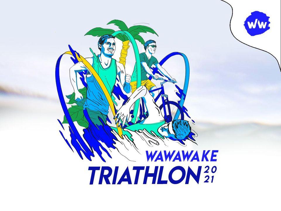 Logo Zawodów Wawa Wake Triathlon 2021 #3