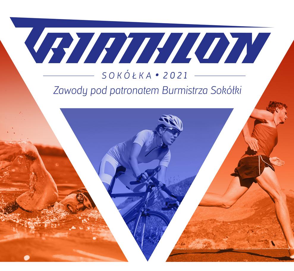 Logo Zawodów V Sokólski Triathlon pod Patronatem Burmistrza Sokółki 2021
