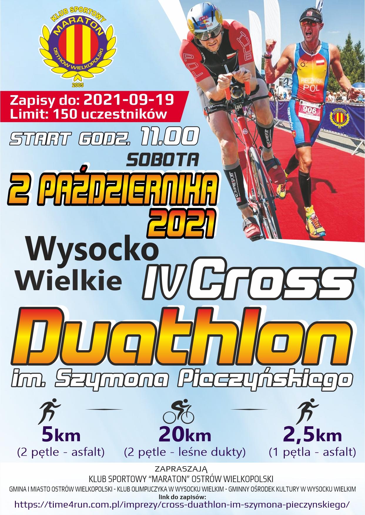 Logo Zawodów Cross Duathlon im. Szymona Pieczyńskiego 2021