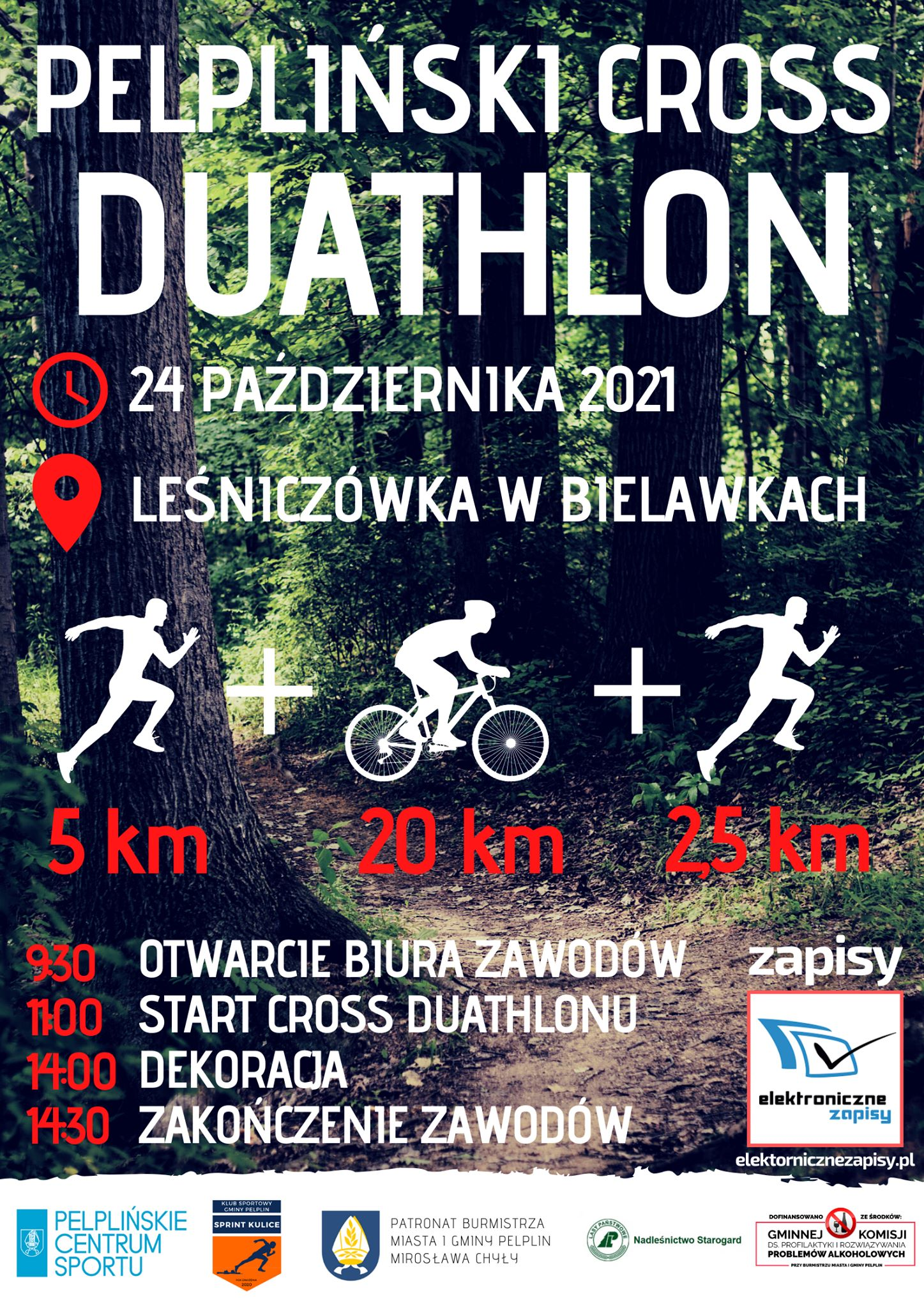 Logo Zawodów Pelpliński Cross Duathlon 2021