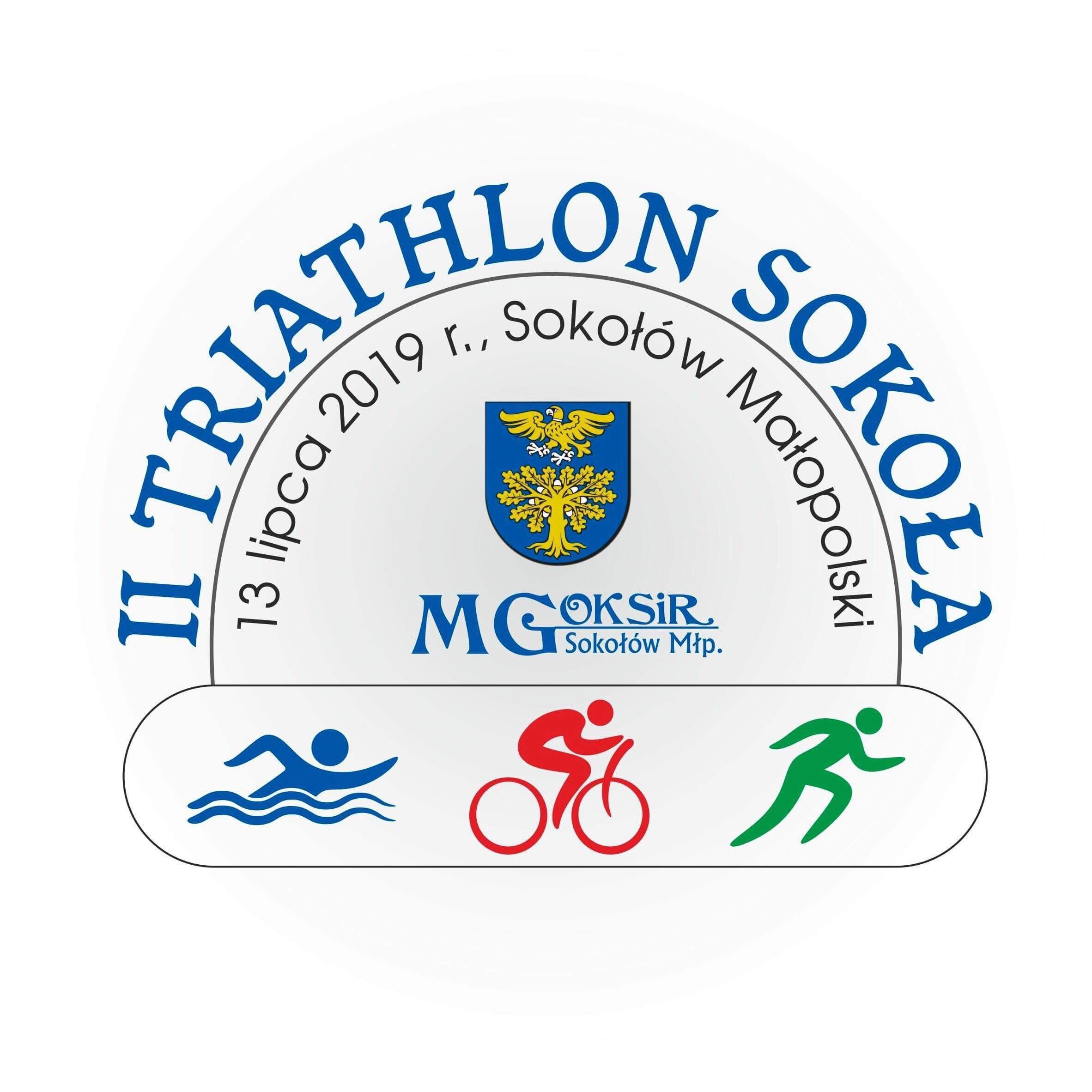 Logo Zawodów II Triathlon Sokoła