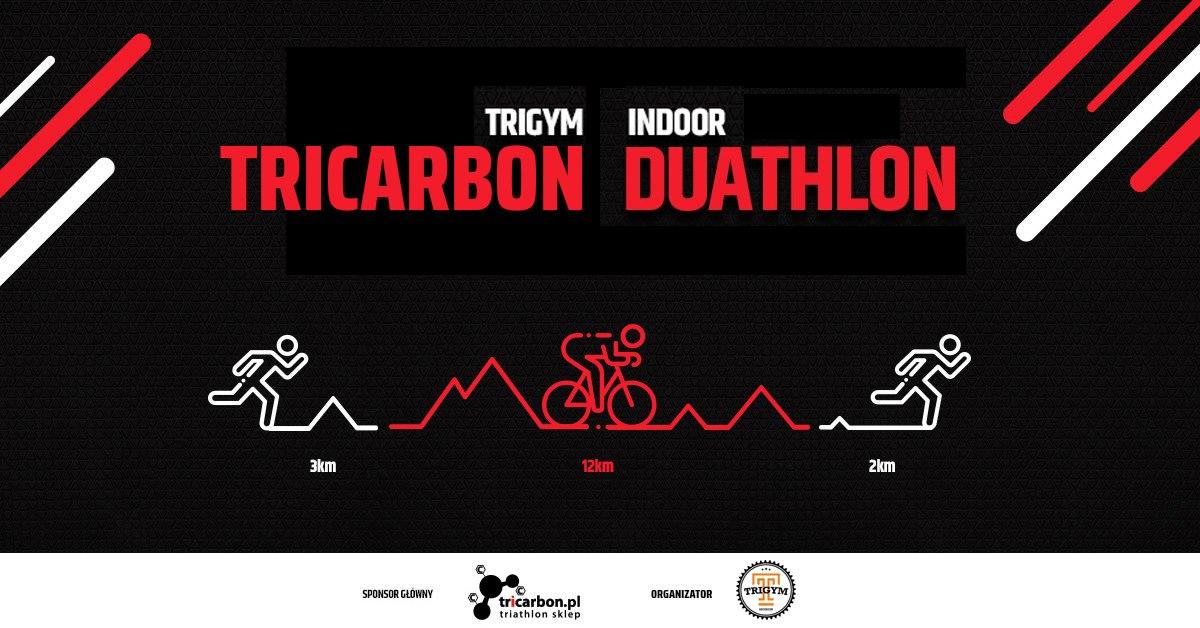 Logo Zawodów Trigym Indoor Tricarbon Duathlon 2019 Kwiecień