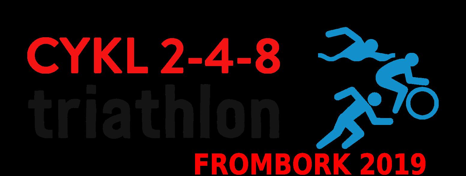 Logo Zawodów Triathlon 2-4-8 Frombork 2019