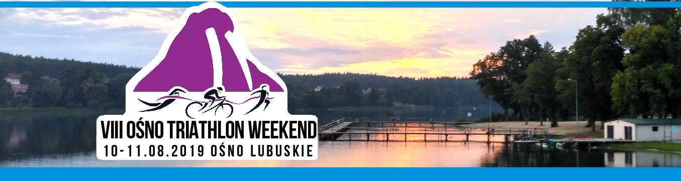 Logo Zawodów Ośno Triathlon Weekend 2019