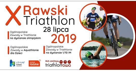 Logo Zawodów X Rawski Triathlon 2019