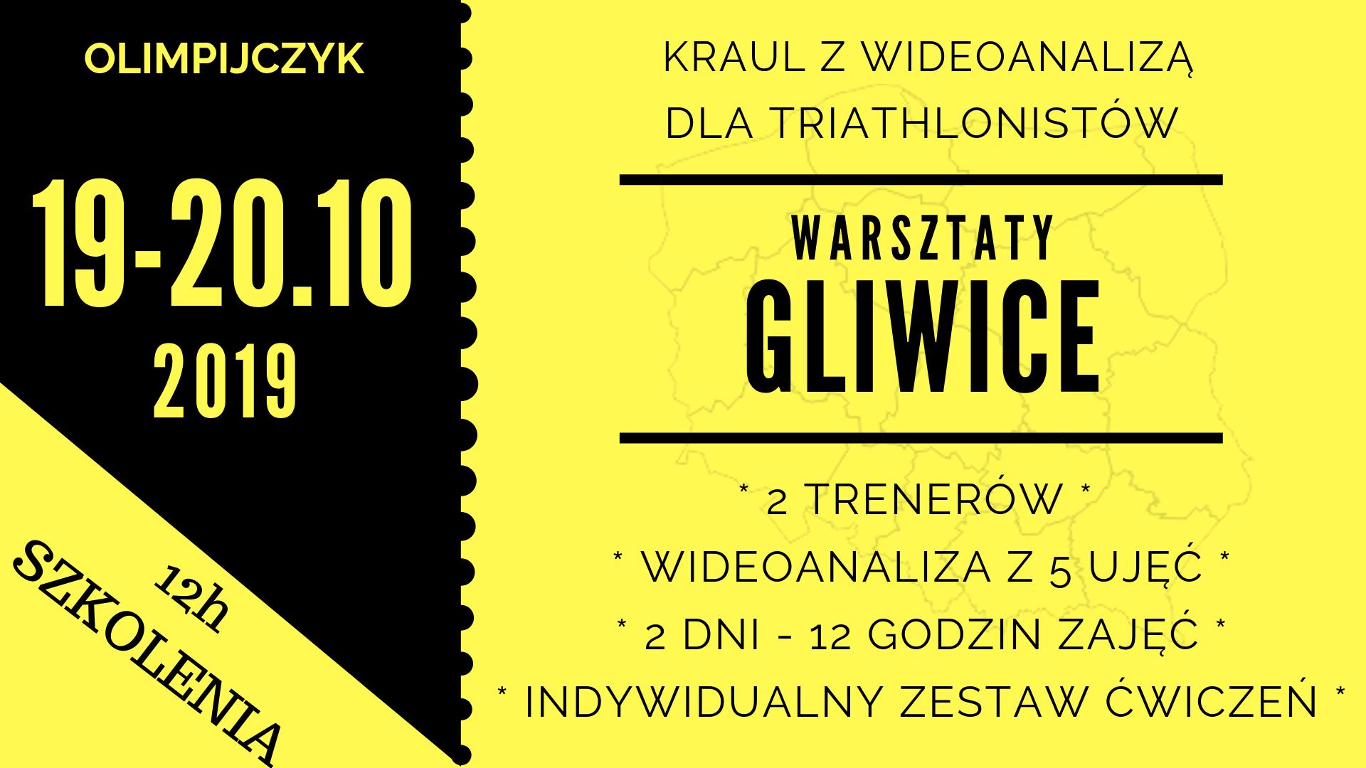Logo Zawodów Gliwice warsztaty kraula 19-20.10.2019 Triathlon / Swimrun